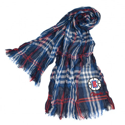 Los Angeles Clippers Plaid Crinkle Scarf