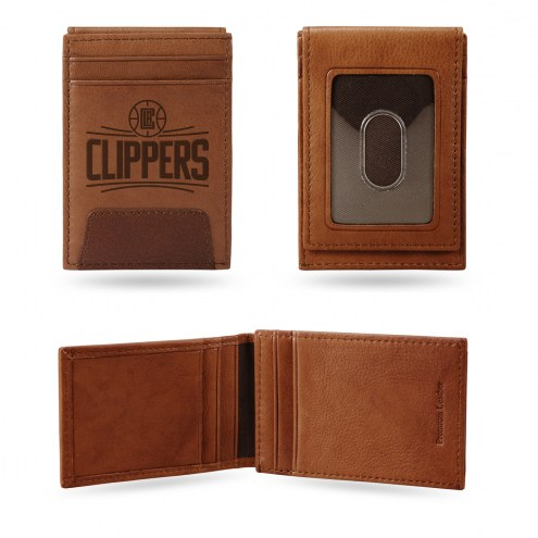 Los Angeles Clippers Premium Leather Front Pocket Wallet