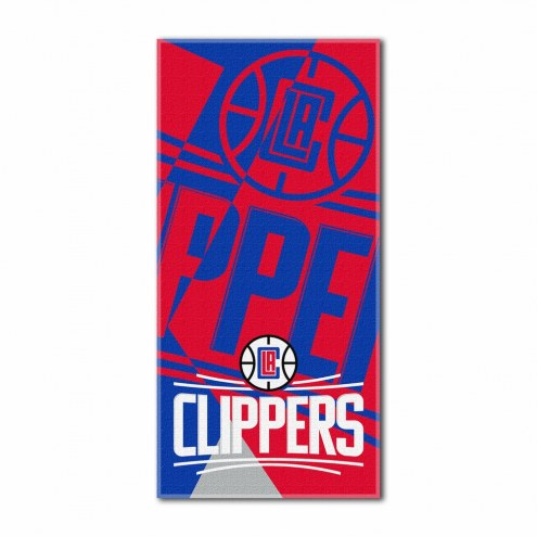 Los Angeles Clippers Puzzle Beach Towel
