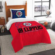 Los Angeles Clippers Reverse Slam Twin Comforter Set