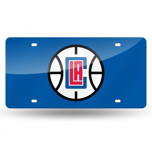 Los Angeles Clippers Laser Cut License Plate