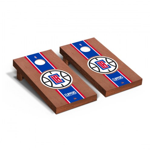 Los Angeles Clippers Rosewood Stained Cornhole Game Set