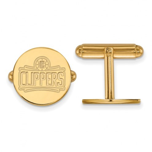 Los Angeles Clippers Sterling Silver Gold Plated Cuff Links