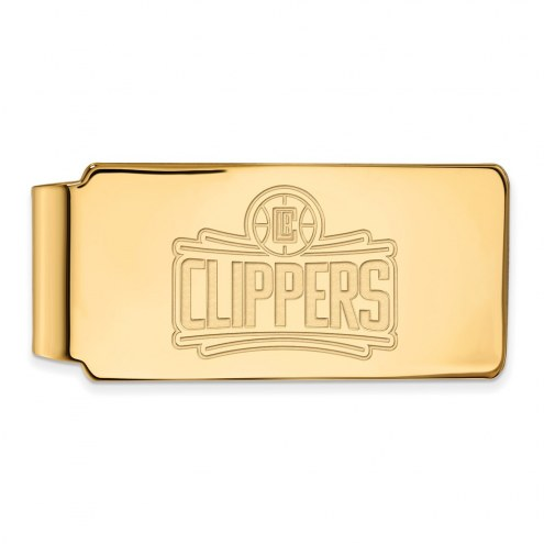 Los Angeles Clippers Sterling Silver Gold Plated Money Clip