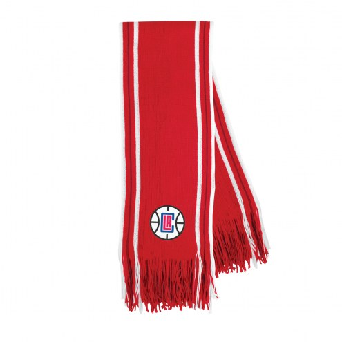 Los Angeles Clippers Stripe Fringe Scarf