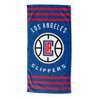Los Angeles Clippers Stripes Beach Towel