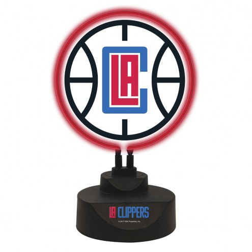 Los Angeles Clippers Team Logo Neon Lamp