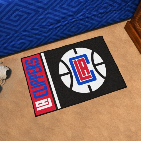 Los Angeles Clippers Uniform Inspired Starter Rug