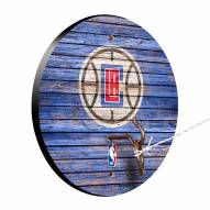 Los Angeles Clippers Weathered Design Hook & Ring Game