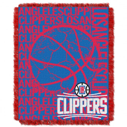 Los Angeles Clippers Woven Jacquard Throw Blanket