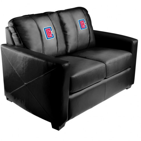 Los Angeles Clippers XZipit Silver Loveseat with Secondary Logo