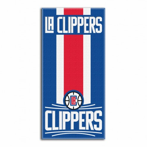 Los Angeles Clippers Zone Read Beach Towel