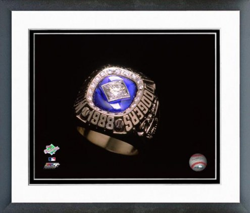 Los Angeles Dodgers 1988 Los Angeles Dodgers World Series Ring Framed Photo