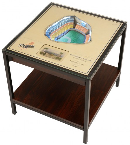 Los Angeles Dodgers 25-Layer StadiumViews Lighted End Table