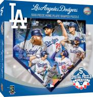 Los Angeles Dodgers 500 Piece Home Plate Shaped Puzzle