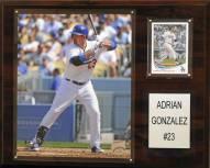 "Los Angeles Dodgers Adrian Gonzalez 12"" x 15"" Player Plaque"