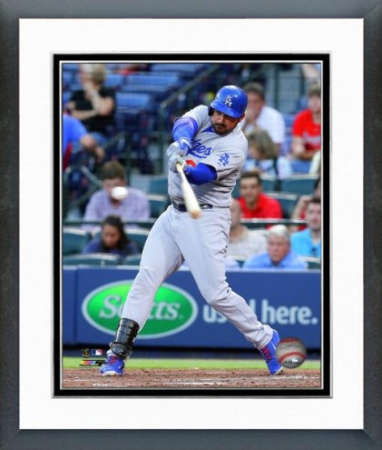 Los Angeles Dodgers Adrian Gonzalez 2014 Action Framed Photo