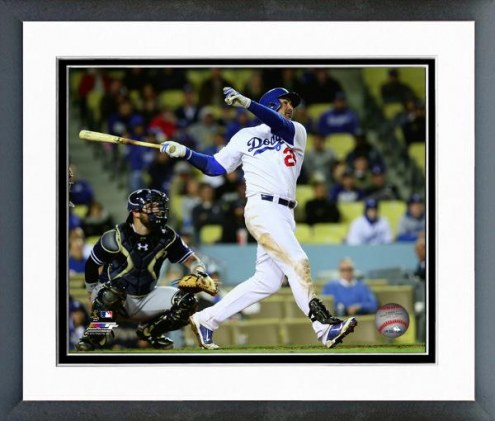 Los Angeles Dodgers Adrian Gonzalez Action Framed Photo