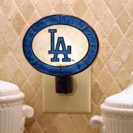 Los Angeles Dodgers Art Glass Night Light