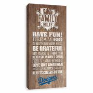Los Angeles Dodgers Family Rules Icon Wood Printed Canvas
