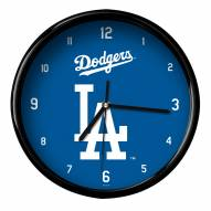 Los Angeles Dodgers Black Rim Clock