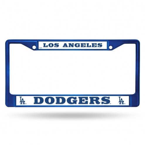 Los Angeles Dodgers Blue Colored Chrome License Plate Frame