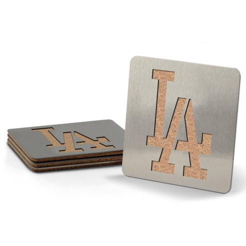 Los Angeles Dodgers Boasters Stainless Steel Coasters - Set of 4