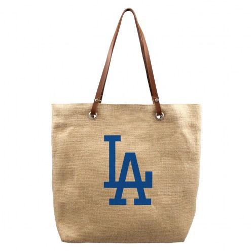 Los Angeles Dodgers Burlap Market Tote