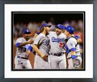 Los Angeles Dodgers Celebrate Winning the NL West Division Framed Photo