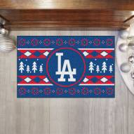 Los Angeles Dodgers Christmas Sweater Starter Rug