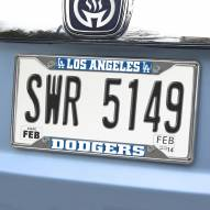 Los Angeles Dodgers Chrome Metal License Plate Frame