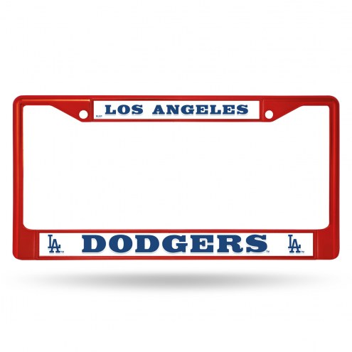 Los Angeles Dodgers Colored Chrome License Plate Frame