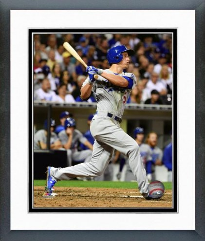 Los Angeles Dodgers Corey Seager Action Framed Photo