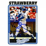 Los Angeles Dodgers Darryl Strawberry Signed 2005 Topps Card