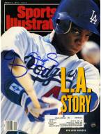 Los Angeles Dodgers Darryl Strawberry Signed 3/4/91 Sports Illustrated Magazine