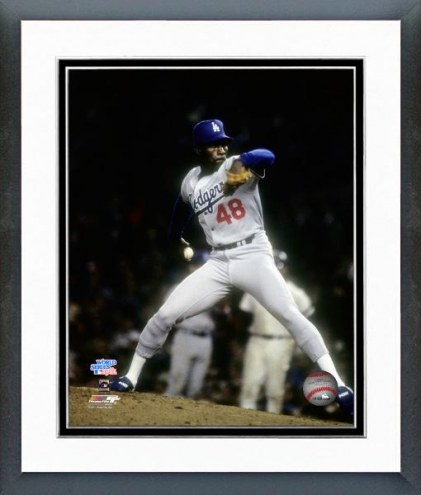 Los Angeles Dodgers Dave Stewart 1981 World Series Action Framed Photo
