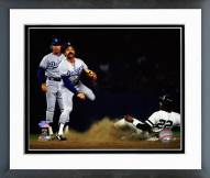 Los Angeles Dodgers Davey Lopes 1981 World Series Action Framed Photo