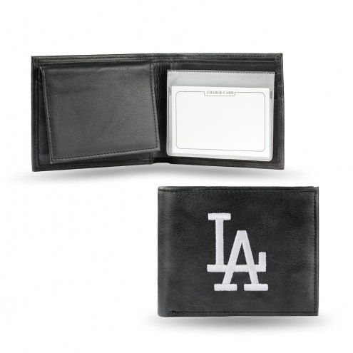 Los Angeles Dodgers Embroidered Leather Billfold Wallet