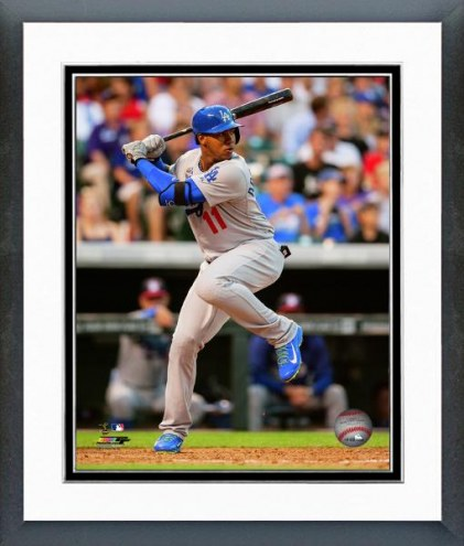 Los Angeles Dodgers Erisbel Arruebarrena Action Framed Photo
