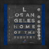 Los Angeles Dodgers Eye Chart