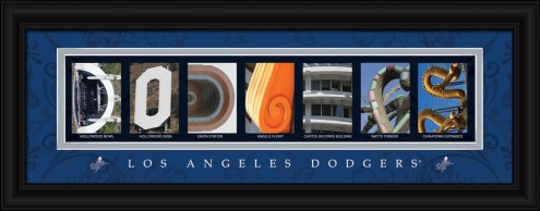 Los Angeles Dodgers Framed Letter Art