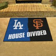 Los Angeles Dodgers/San Francisco Giants House Divided Mat