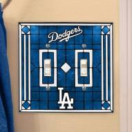 Los Angeles Dodgers Glass Double Switch Plate Cover