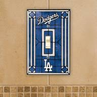 Los Angeles Dodgers Glass Single Light Switch Plate Cover