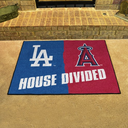 Los Angeles Dodgers/Los Angeles Angels House Divided Mat