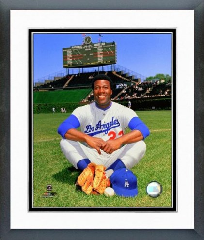 "Los Angeles Dodgers Jim ""Mudcat"" Grant posed Framed Photo"
