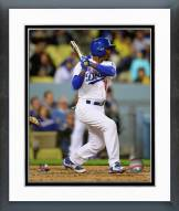 Los Angeles Dodgers Jimmy Rollins Action Framed Photo