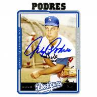 Los Angeles Dodgers Johnny Podres Signed 2005 Topps Card - Elbow resting on glove