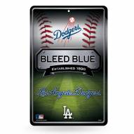 Los Angeles Dodgers Large Embossed Metal Wall Sign
