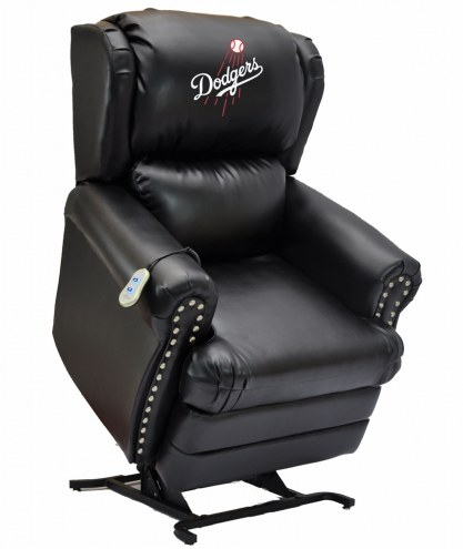 Los Angeles Dodgers Leather Coach Lift Recliner